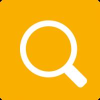 Icon Lumin Suchfunktion orange