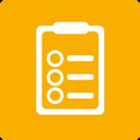 Icon Lumin Aufgabenliste orange